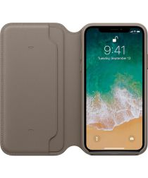 Originele Apple iPhone XS / X Leather Folio Taupe