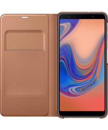 Samsung Galaxy A7 2018 Portemonnee Hoesje Goud