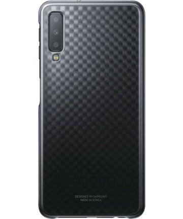 Samsung Galaxy A7 2018 Gradation Clear Cover Zwart Hoesjes