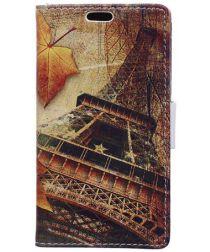 Samsung Galaxy J4 Plus Portemonnee Print Hoesje Eiffeltoren