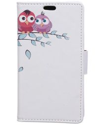 Samsung Galaxy J4 Plus Portemonnee Print Hoesje Two Owls