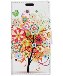 Samsung Galaxy J4 Plus Portemonnee Print Hoesje Colorful Flower