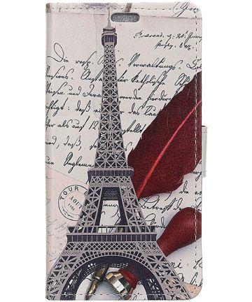 Samsung Galaxy A7 (2018) Portemonnee Print Hoesje Eiffeltoren Hoesjes