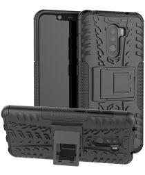 Xiaomi Pocophone F1 Robuust Hybride Hoesje Zwart