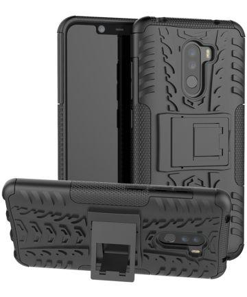 Xiaomi Pocophone F1 Robuust Hybride Hoesje Zwart Hoesjes