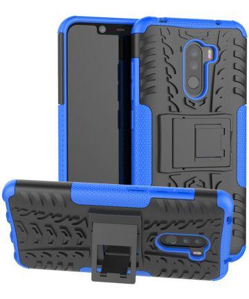 Xiaomi Pocophone F1 Robuust Hybride Hoesje Blauw