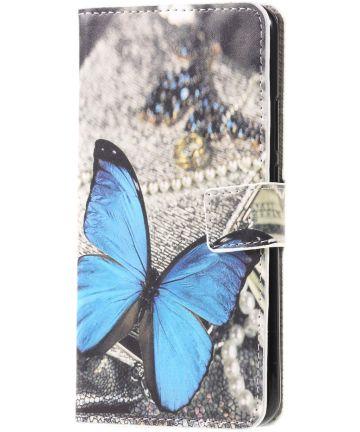 Huawei Mate 20 Lite Portemonnee Hoesje Print Vlinder