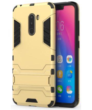 Xiaomi Pocophone F1 Hybrid Kickstand Hoesje Goud Hoesjes