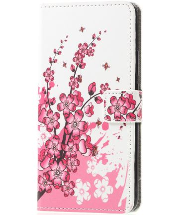 Huawei Mate 20 Lite Portemonnee Hoesje Print Bloesem