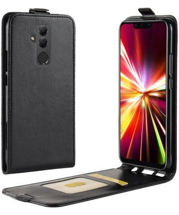 Huawei Mate 20 Lite Verticaal Flip Hoesje Zwart