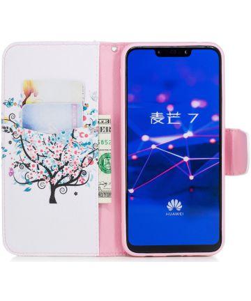 Huawei Mate 20 Lite Portemonnee Hoesje met Flower Tree Print