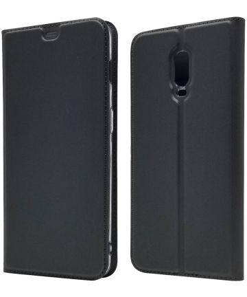 OnePlus 6T Luxe Portemonnee Hoesje Zwart Hoesjes