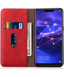 Huawei Mate 20 Lite Vintage Portemonnee Hoesje Rood