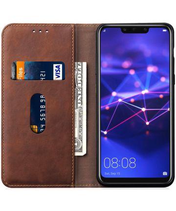 Huawei Mate 20 Lite Vintage Portemonnee Hoesje Bruin Hoesjes