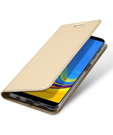 Dux Ducis Premium Book Case Samsung Galaxy A7 2018 Hoesje Goud