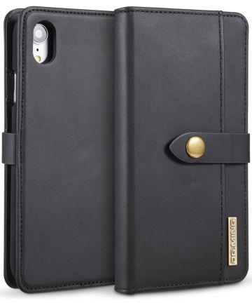 Apple iPhone XR Leren 2-in-1 Bookcase en Back Cover Hoesje Zwart Hoesjes