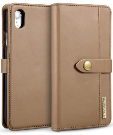 Apple iPhone XR Leren 2-in-1 Bookcase en Back Cover Hoesje Bruin Hoesjes