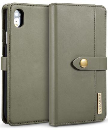 Apple iPhone XR Leren 2-in-1 Bookcase en Back Cover Hoesje Groen Hoesjes