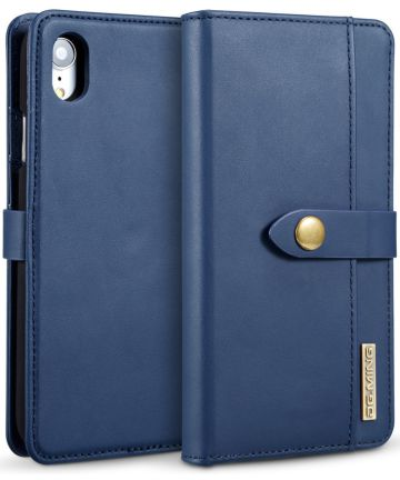 Apple iPhone XR Leren 2-in-1 Bookcase en Back Cover Hoesje Blauw