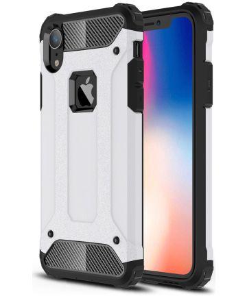 Apple IPhone XR Hoesje Shock Proof Hybride Back Cover Wit