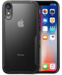 Apple iPhone XR Transparant Hoesje Armor Backcover Zwart