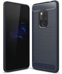 Huawei Mate 20 Geborsteld TPU Hoesje Blauw