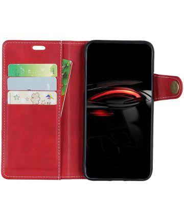 Samsung Galaxy A7 (2018) Wallet Case Rood Hoesjes