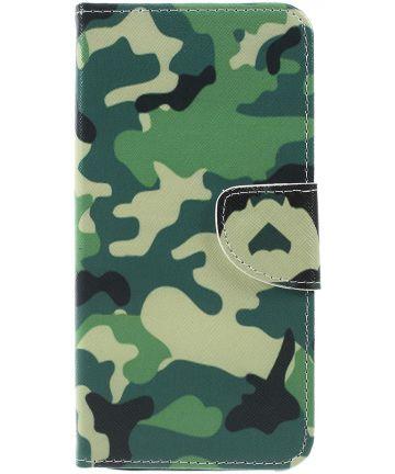 Samsung Galaxy A7 (2018) Portemonnee hoesje Camouflage Hoesjes