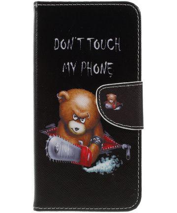 Samsung Galaxy A7 (2018) Portemonnee hoesje Angry Bear Hoesjes