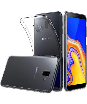 Samsung Galaxy J6 Plus Hoesje Dun TPU Transparant