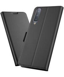 Samsung Galaxy A7 (2018) Card Holder Case Zwart