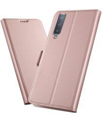 Samsung Galaxy A7 (2018) Card Holder Case Roze