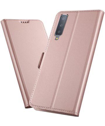 Samsung Galaxy A7 (2018) Card Holder Case Roze Hoesjes
