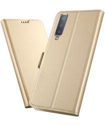 Samsung Galaxy A7 (2018) Card Holder Case Goud
