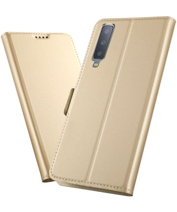 Samsung Galaxy A7 (2018) Card Holder Case Goud Hoesjes