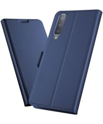 Samsung Galaxy A7 (2018) Card Holder Case Blauw
