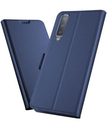 Samsung Galaxy A7 (2018) Card Holder Case Blauw Hoesjes