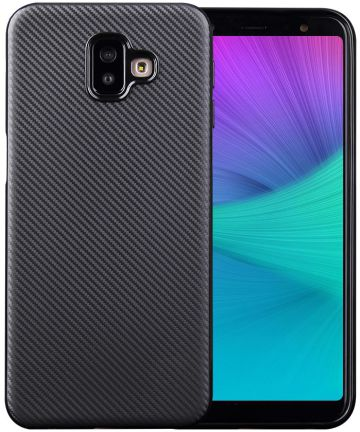 Samsung Galaxy J6 Plus Carbon TPU Hoesje Zwart