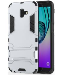 Samsung Galaxy J6 Plus Hybride Kickstand Hoesje Wit