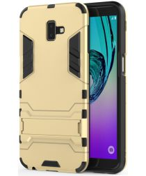 Samsung Galaxy J6 Plus Hybride Kickstand Hoesje Goud