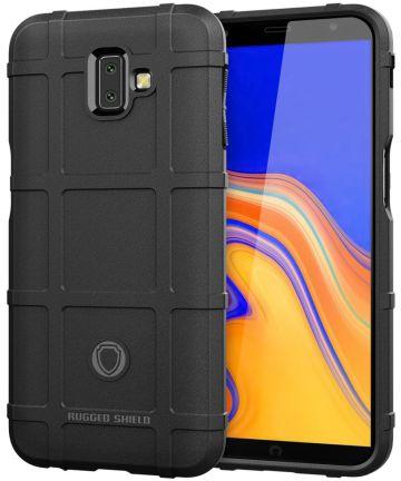 Samsung Galaxy J6 Plus TPU Hyrbide Hoesje Zwart