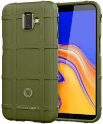 Samsung Galaxy J6 Plus TPU Hyrbide Hoesje Groen