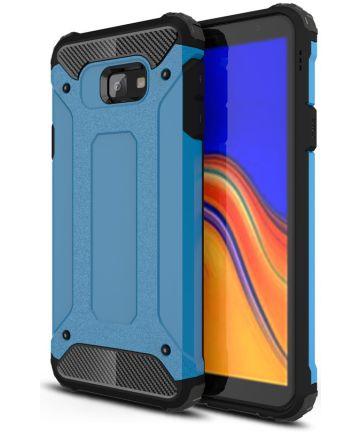 Samsung Galaxy J4 Plus Hyrbride Hoesje Blauw