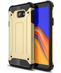 Samsung Galaxy J4 Plus Hyrbride Hoesje Goud
