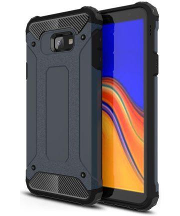 Samsung Galaxy J4 Plus Hyrbride Hoesje Donker Blauw Hoesjes