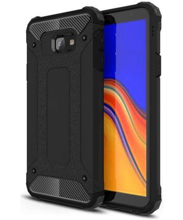 Samsung Galaxy J4 Plus Hyrbride Hoesje Zwart