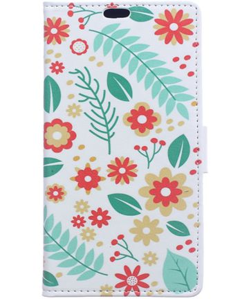 Samsung Galaxy J4 Plus Portemonnee Print Hoesje Flowers