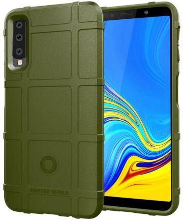 Samsung Galaxy A7 (2018) TPU Hyrbide Hoesje Groen Hoesjes