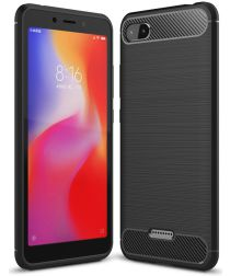 Xiaomi Redmi 6A Geborsteld TPU Hoesje Zwart