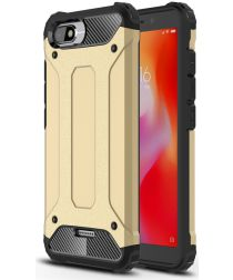 Xiaomi Redmi 6A Hybride TPU Hoesje Goud